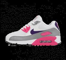Nike Women's Air Max 90 White/Court Purple-Wolf Grey