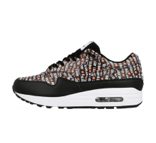 Nike Air Max 1 Premium Black/White-Total Orange