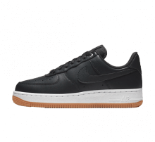Nike Women's Air Force 1 '07 Premium Off Noir/Metallic Silver