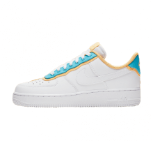 Nike Women's Air Force 1 '07 SE White/LT Blue Fury-Topaz Gold