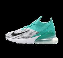 Nike Women's Air Max 270 Flyknit Clear Emerald/Black-White
