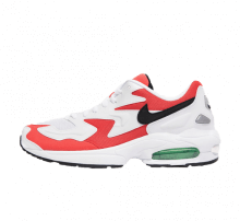 Nike Air Max2 Light White/Black-Habanero Red