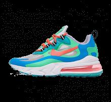 Nike Women's Air Max 270 React Electro Green/Flash Crimson-Blue Lagoon