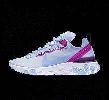 Nike Women's React Element 55 Football Grey/Psychic Blue-Hyper Violet