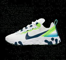 Nike Women's React Element 55 White/Blue Force-Summit White