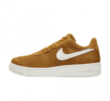 Nike Air Force 1 Flyknit 2.0 Gold Suede/Sail-Burnt Sienna