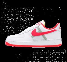 Nike Air Force 1 '07 LV8 1 White/Bright Crimson-Barely Volt