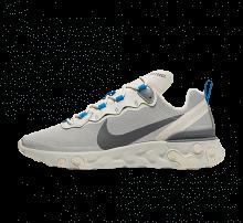Nike React Element 55 Light Bone/Dark Grey-Metallic Silver