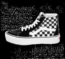 Vans Sk8-Hi Platform 2.0 Suede Checkerboard/True White