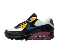 Nike Women's Air Max 90 Light Silver/Geode Teal-Bordeaux