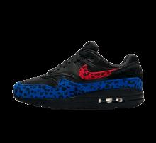 Nike Air Max 1 Premium Black Leopard Habanero Red/Racer Blue