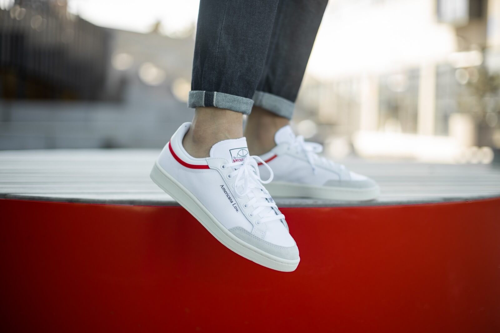 Adidas Americana Low Cloud WhiteGlory Red EF6385