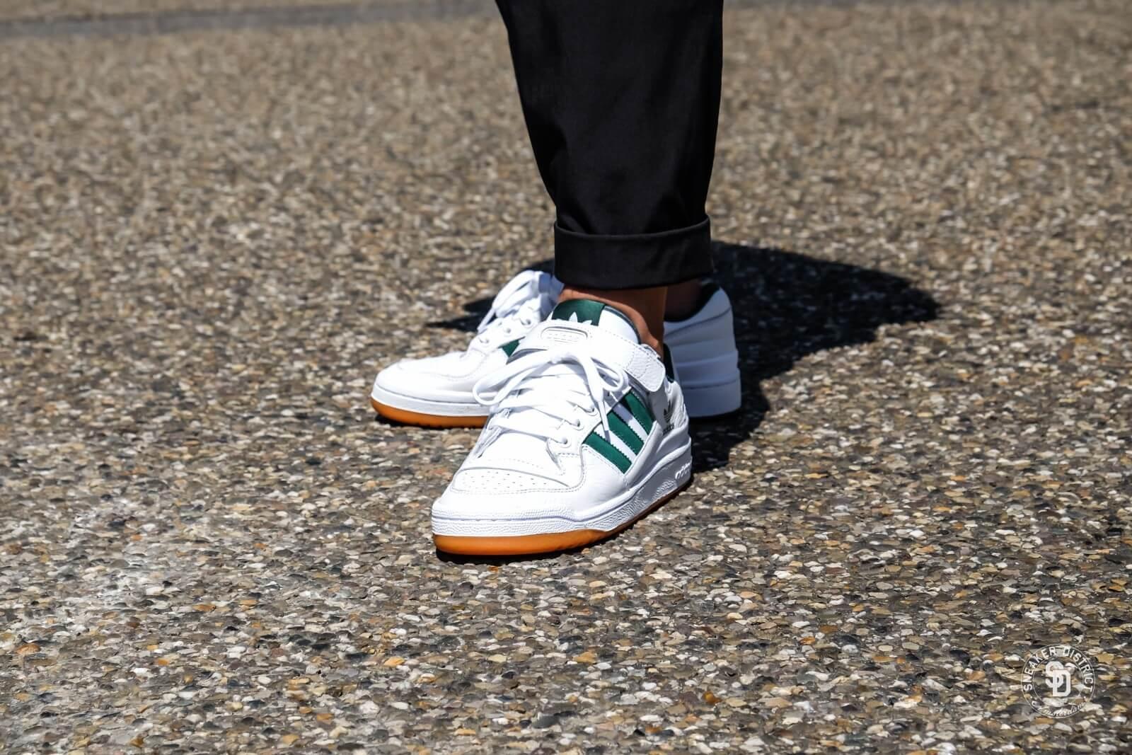 Adidas Forum Lo Footwear WhiteCore GreenGum