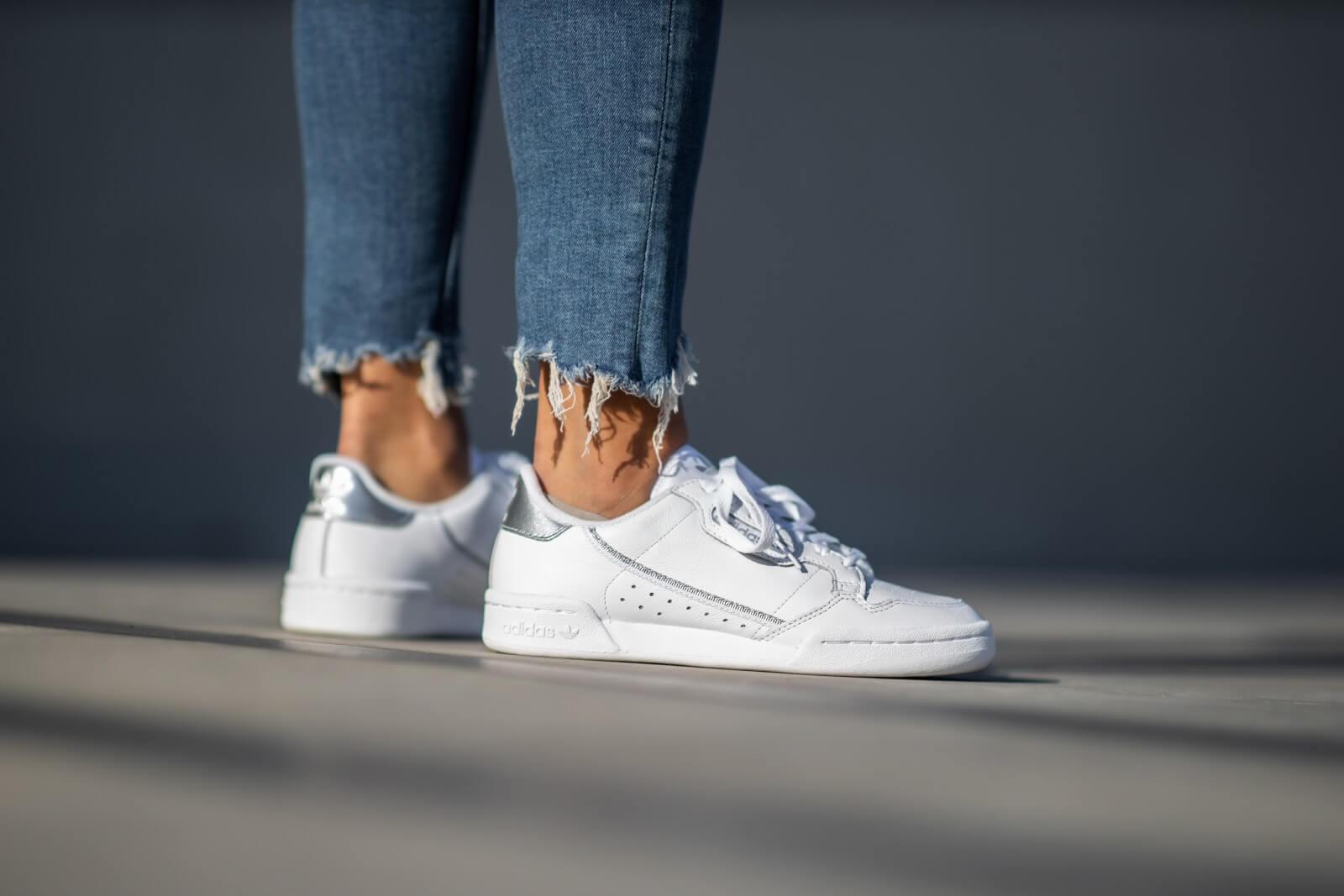 Adidas Women's Continental 80 Footwear WhiteSilver Metallic