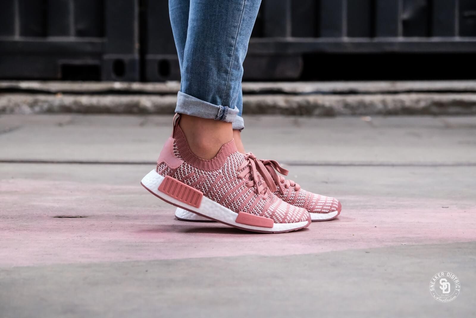 Adidas Women S Nmd R1 Stlt Primeknit Ash Pink Orchid Tint Footwear