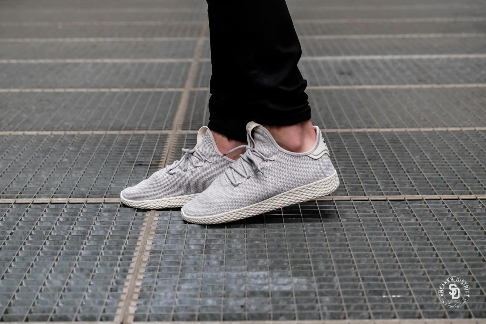 Adidas x Pharrell Williams Tennis HU Grey OneChalk White