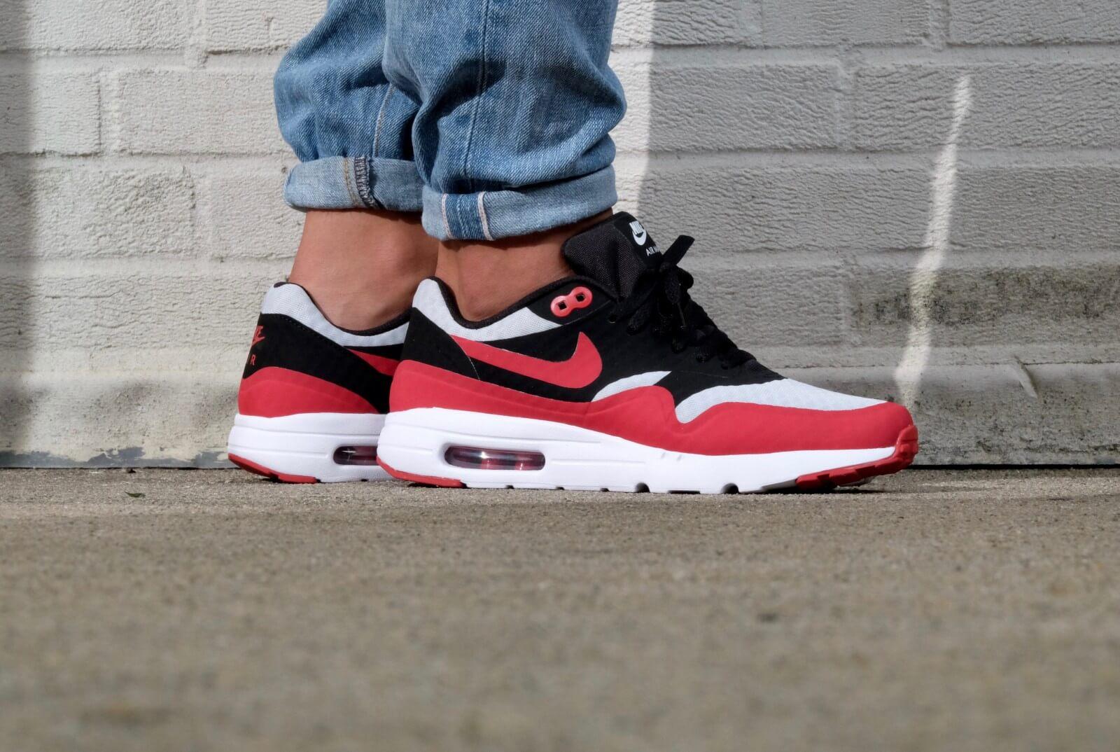 Nike Air Max 1 Ultra essential Pure platinum Gym Red Black White 819476 005