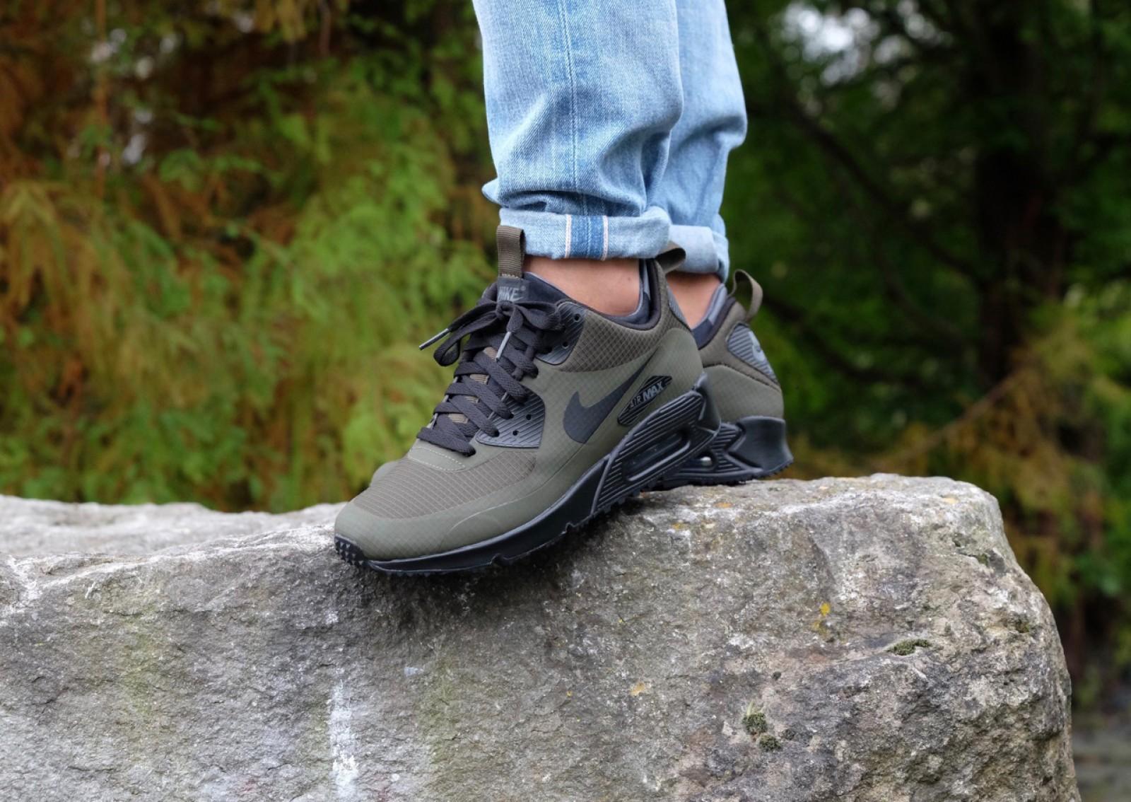 Nike Air Max 90 Mid Wntr Dark Loden Black Dark Grey 806808 300