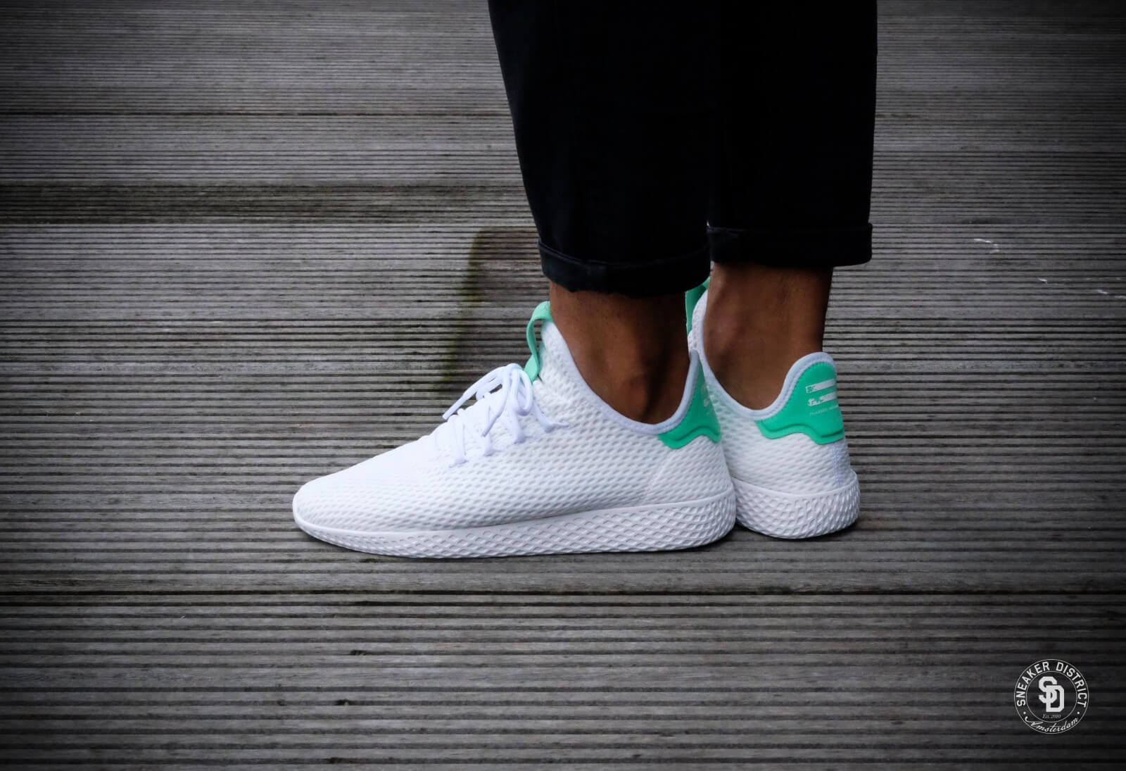 united states release info on cheapest Adidas x Pharrell Williams Tennis HU White/Green - BY8717