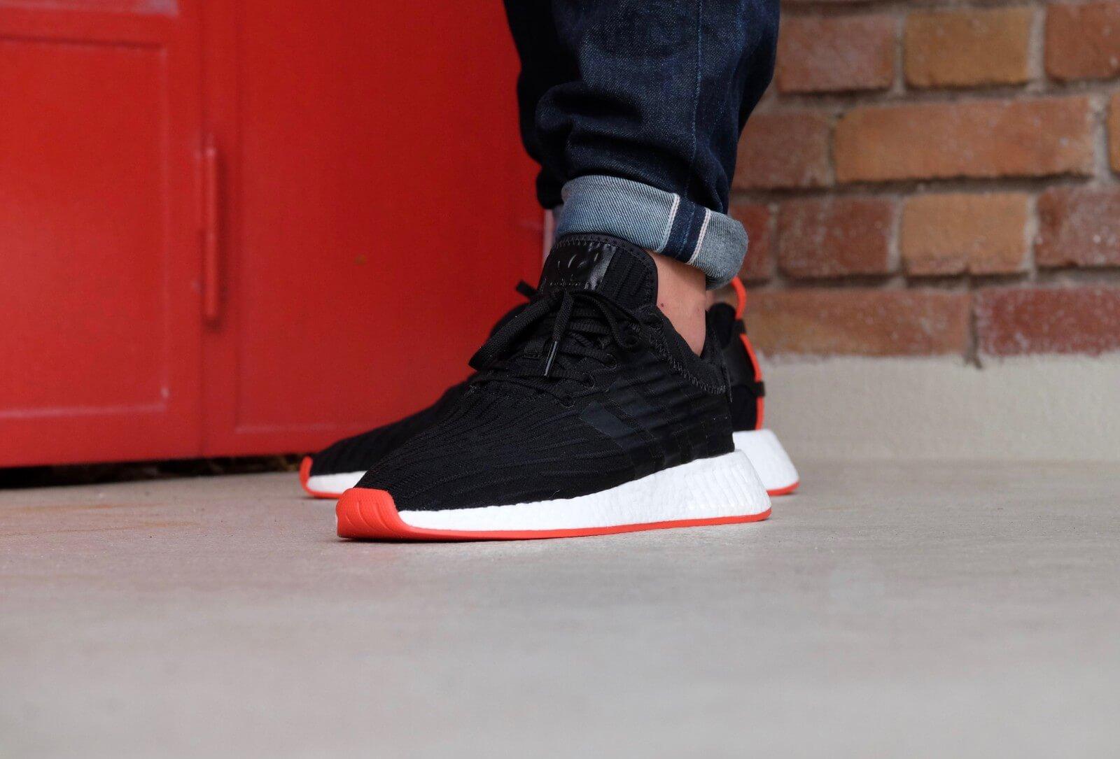 adidas nmd r2 black red