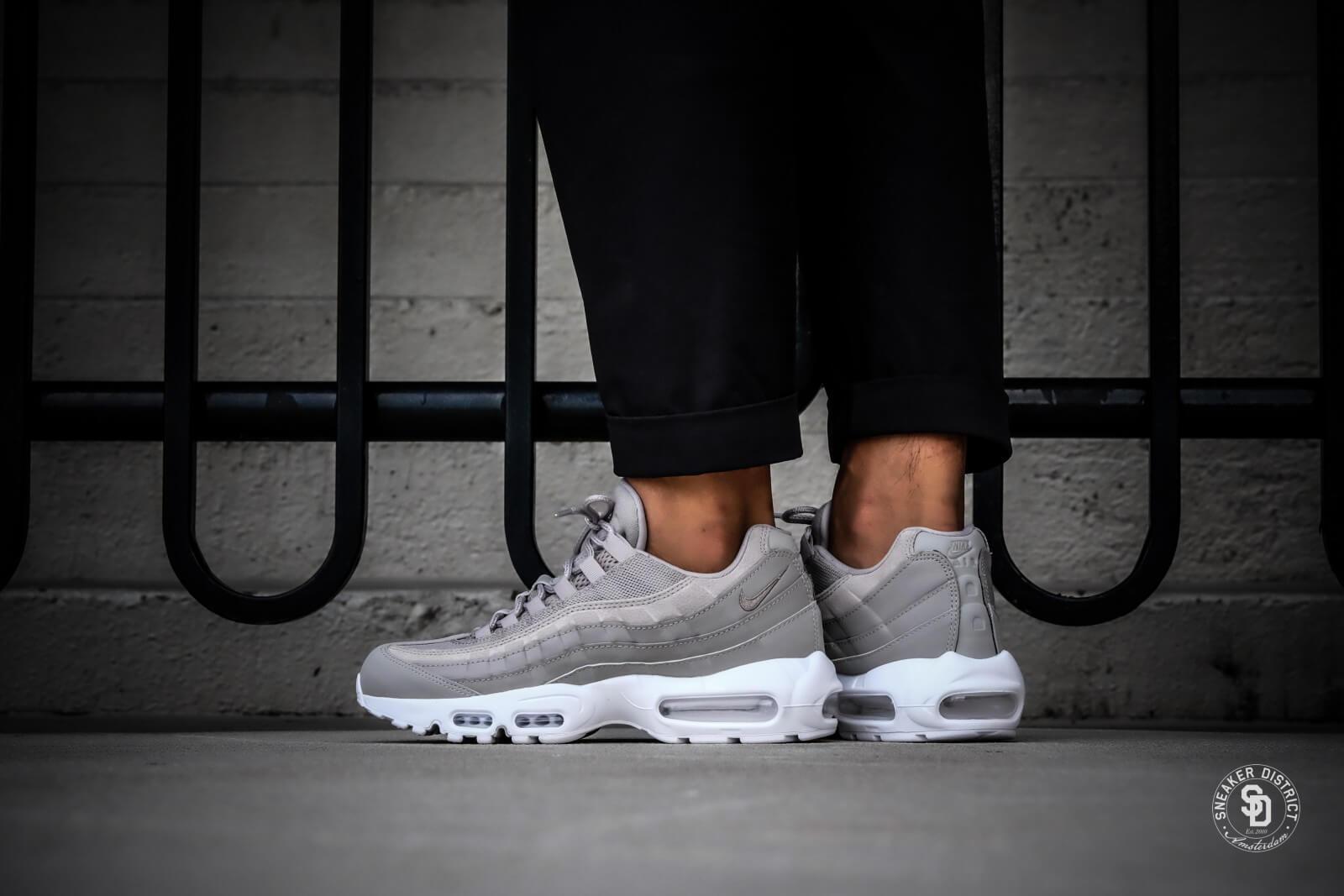 sports shoes e8595 44abe Nike Air Max 95 PRM Cobble Stone   White