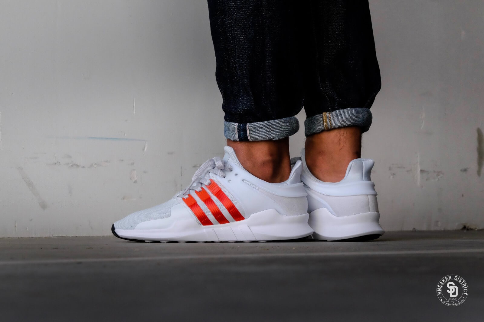 Adidas EQT Support ADV Clear GreyBold OrangeFootwear White BY9581