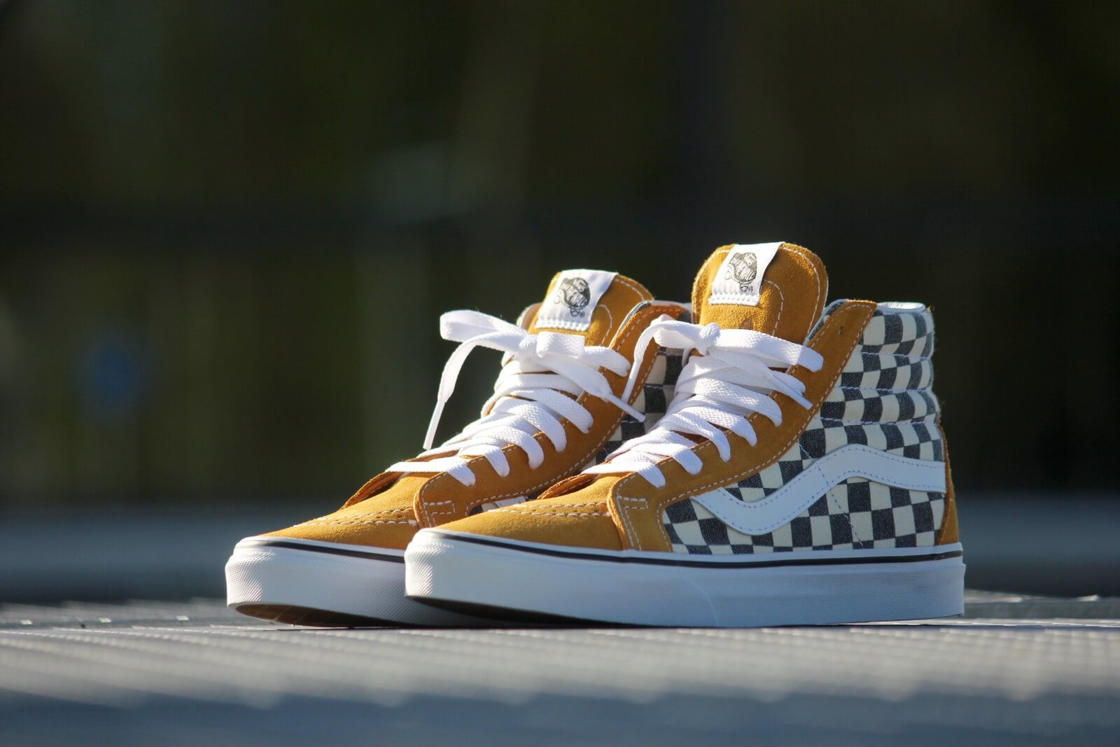 vans checkerboard gelb