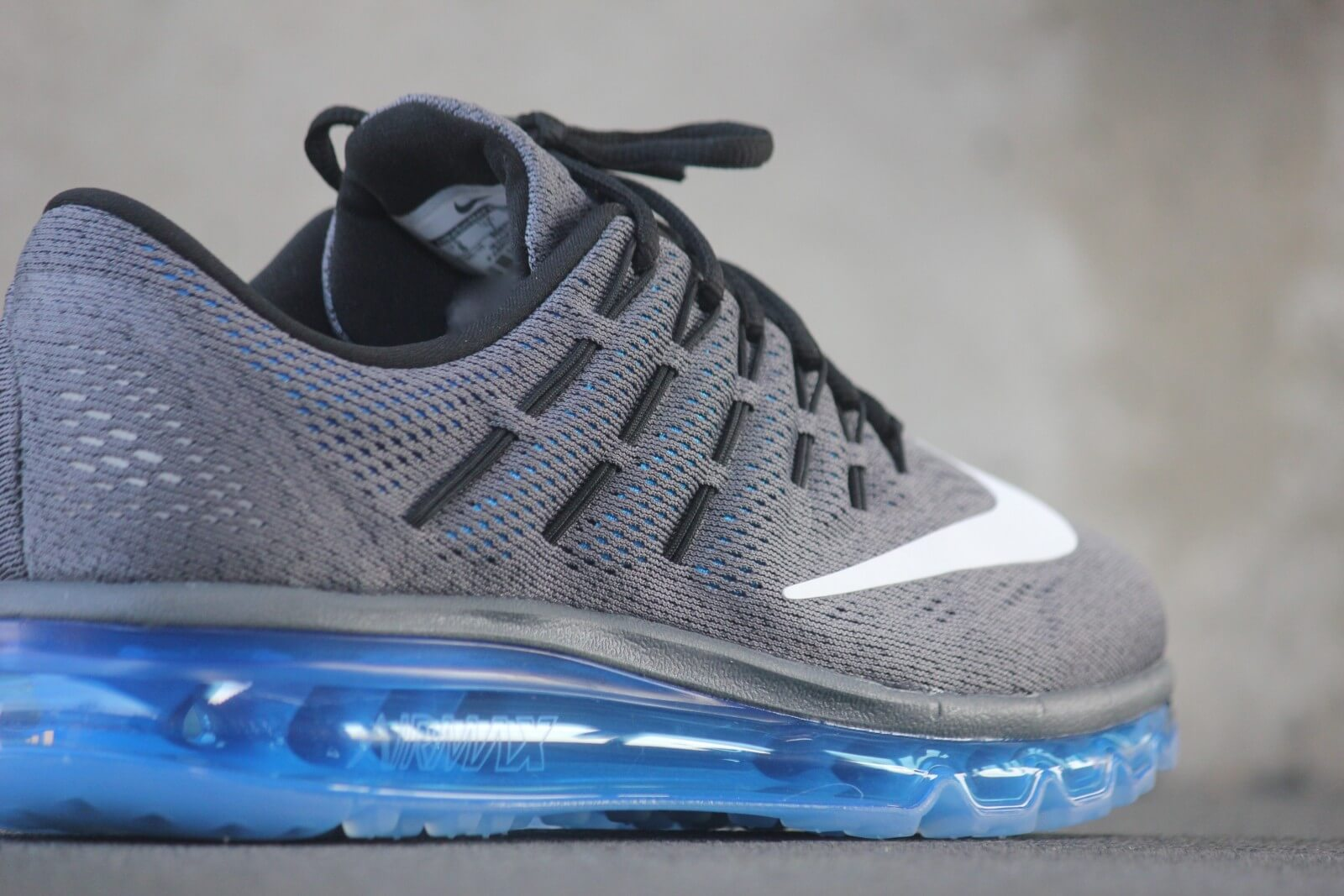 NIKE AIR MAX 2016 DARK GREY PHOTO BLUE BLACK WHITE 806771 002