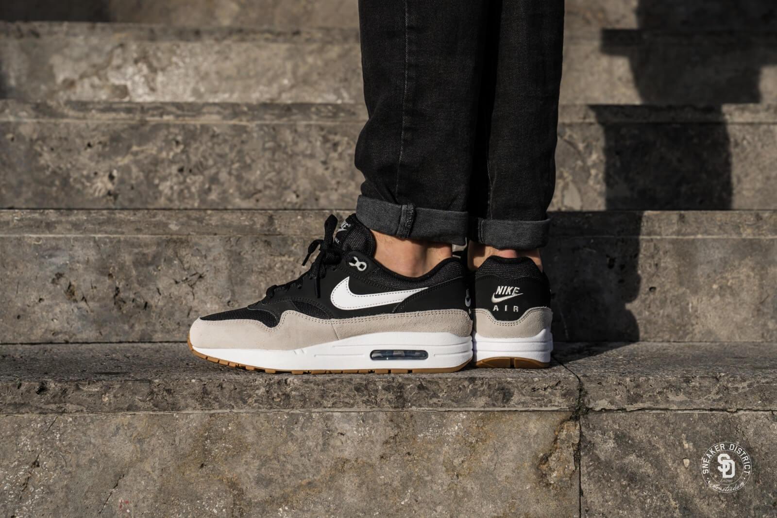 Nike Air Max 1 Black Light Bone Nike ah8145 009