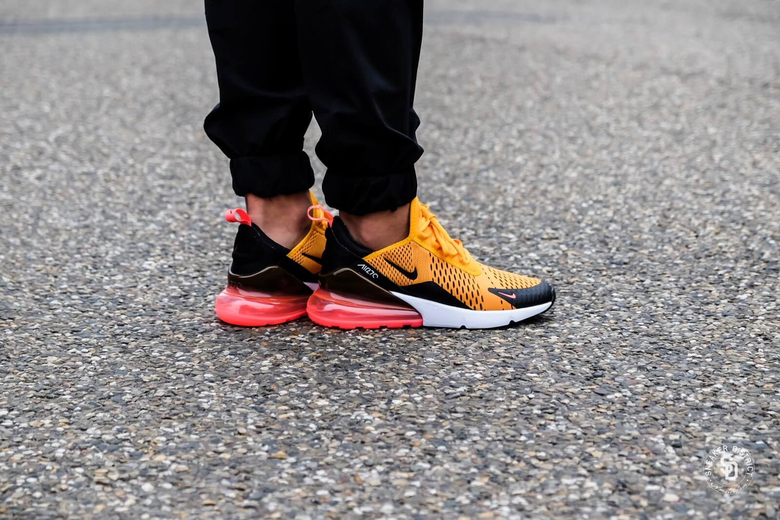 Nike Air Max 270 BlackUniversity Gold Hot Punch AH8050 004