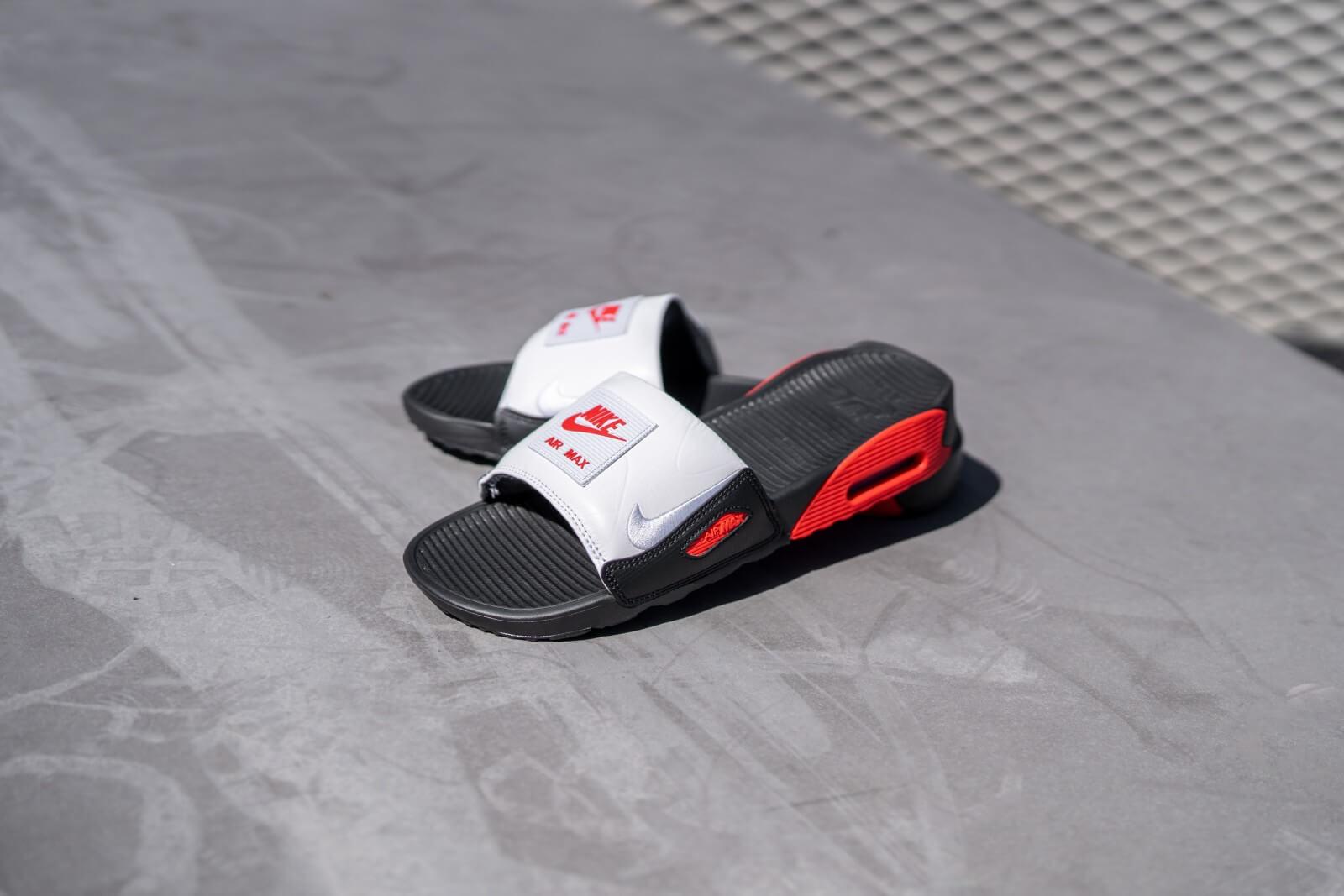 Nike Air Max 90 Slide BlackWhite Chili Red BQ4635 003