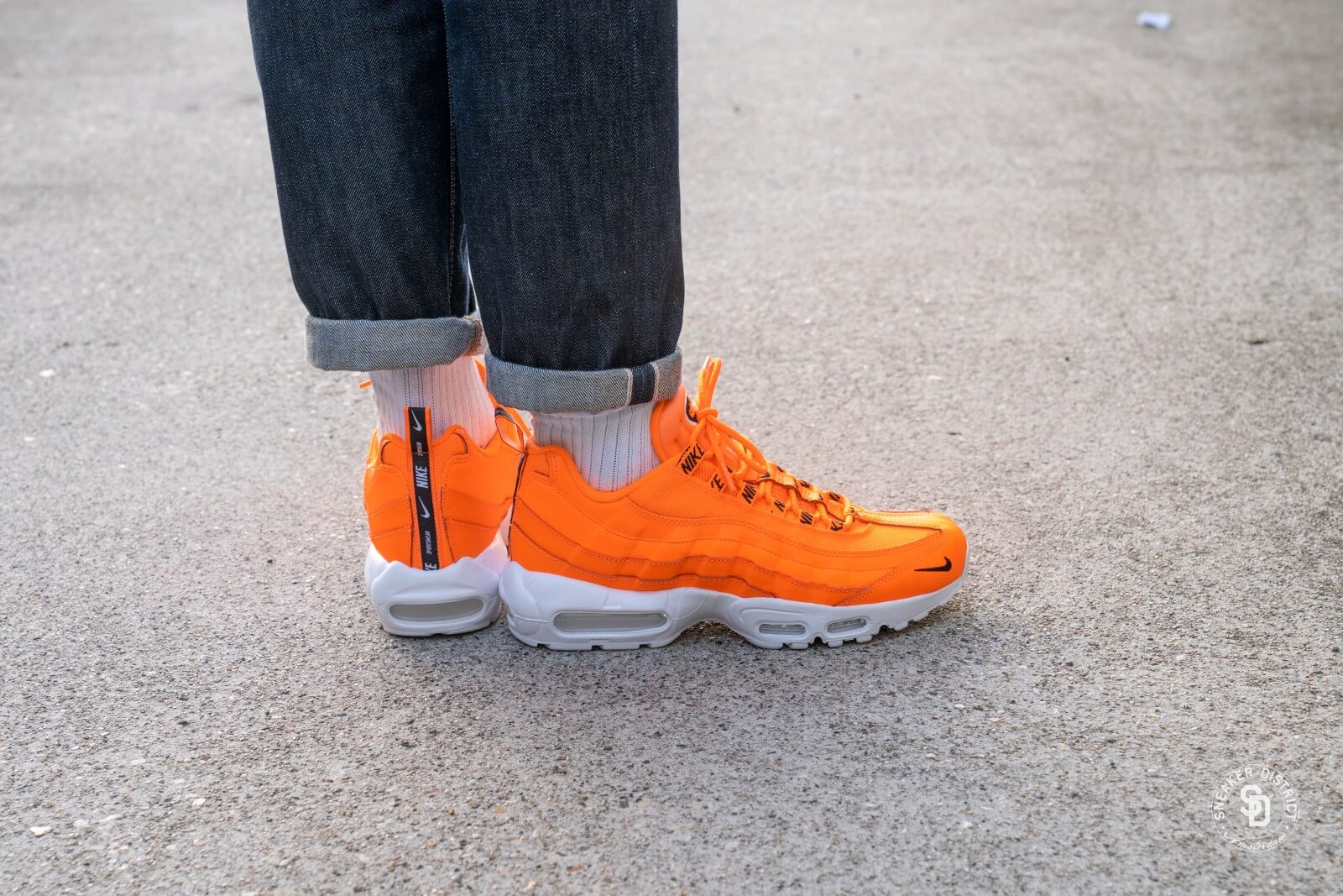 Nike Air Max 95 Premium Total OrangeBlack White 538416 801