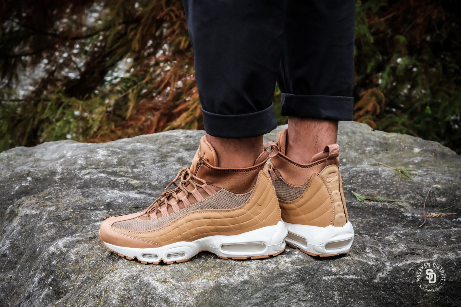 Nike Air Max 95 Sneakerboot FlaxAle Brown Sail sneakers bestellen voor dames | Sneaker District