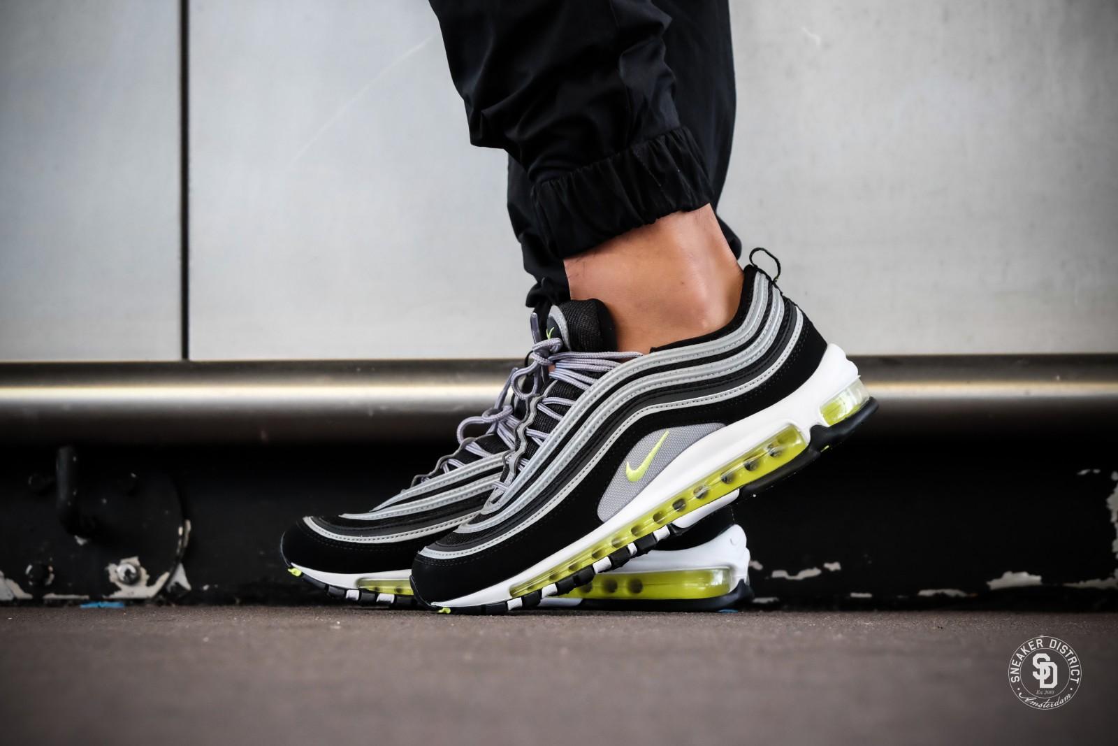 Nike Air Max 97 Black Volt Metallic Silver Sneakers