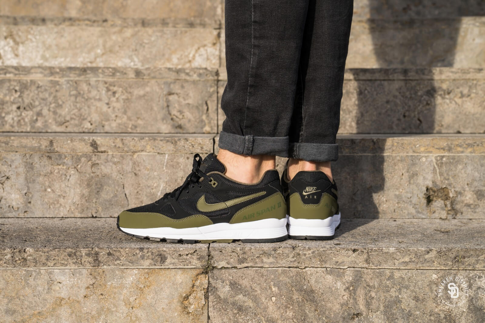 Nike Air Span II BlackOlive Canvas White AH8047 011