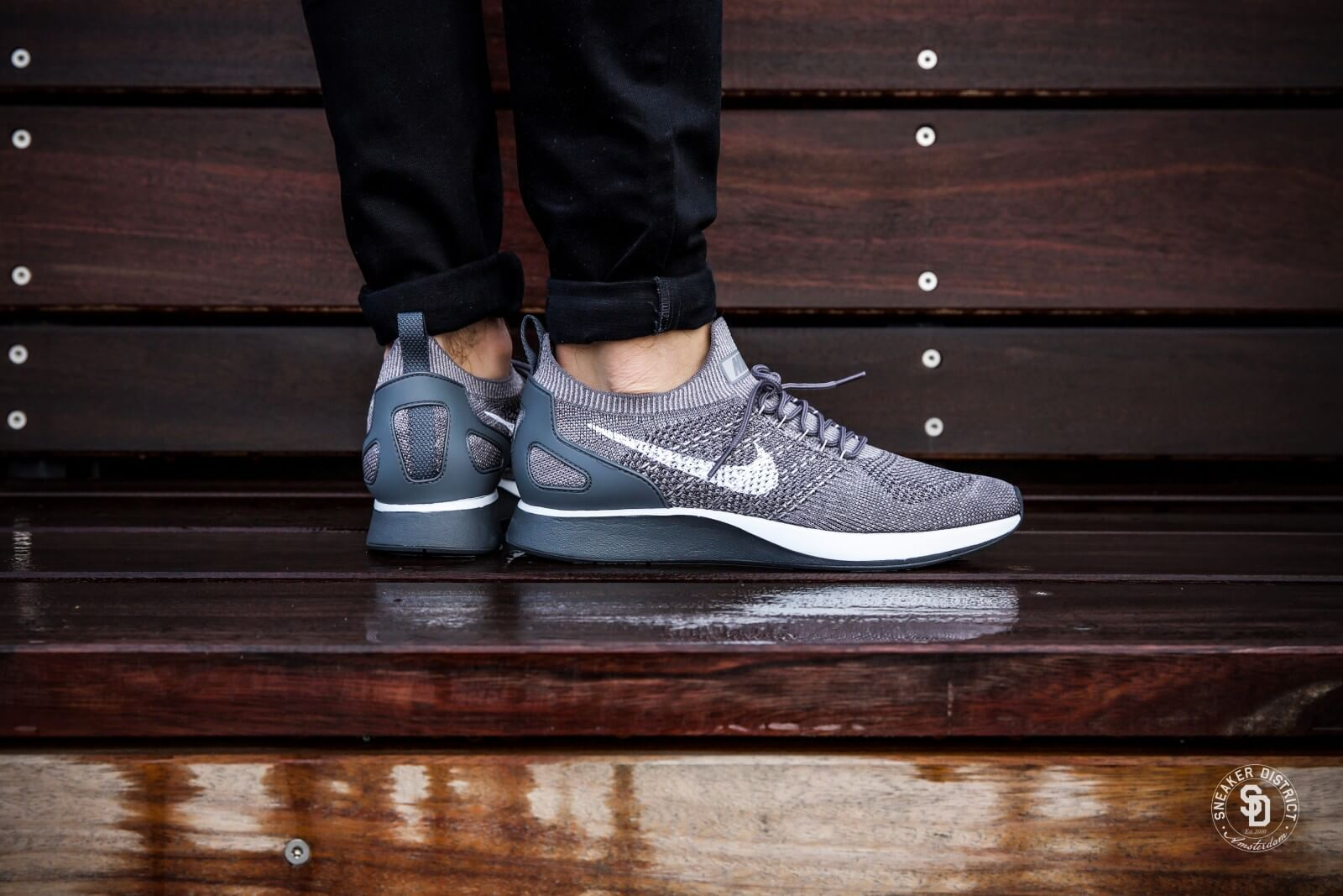 Nike W Air Zoom Mariah Flyknit Racer PRM String Black White