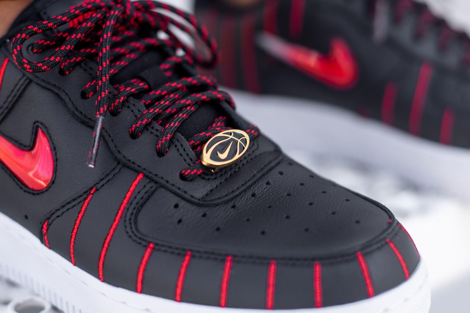Nike Womens Air Force 1 07 Jewel QS Black/University Red