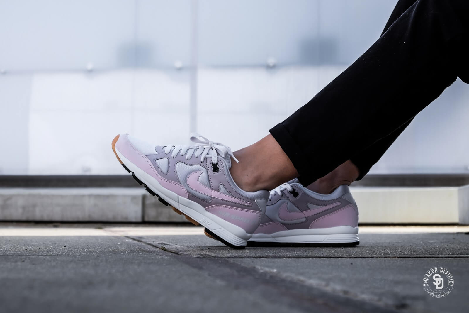 Nike Wmns Air Span II (Vast Grey  Barely Rose  Particle Rose)