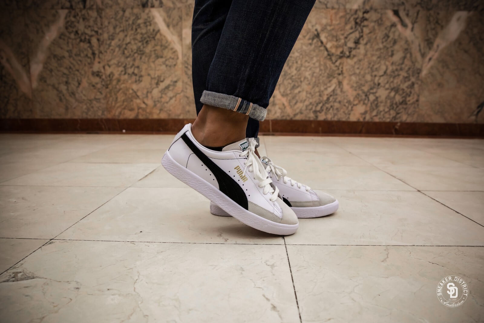 Puma Basket 90680 puma black puma white: : Schuhe