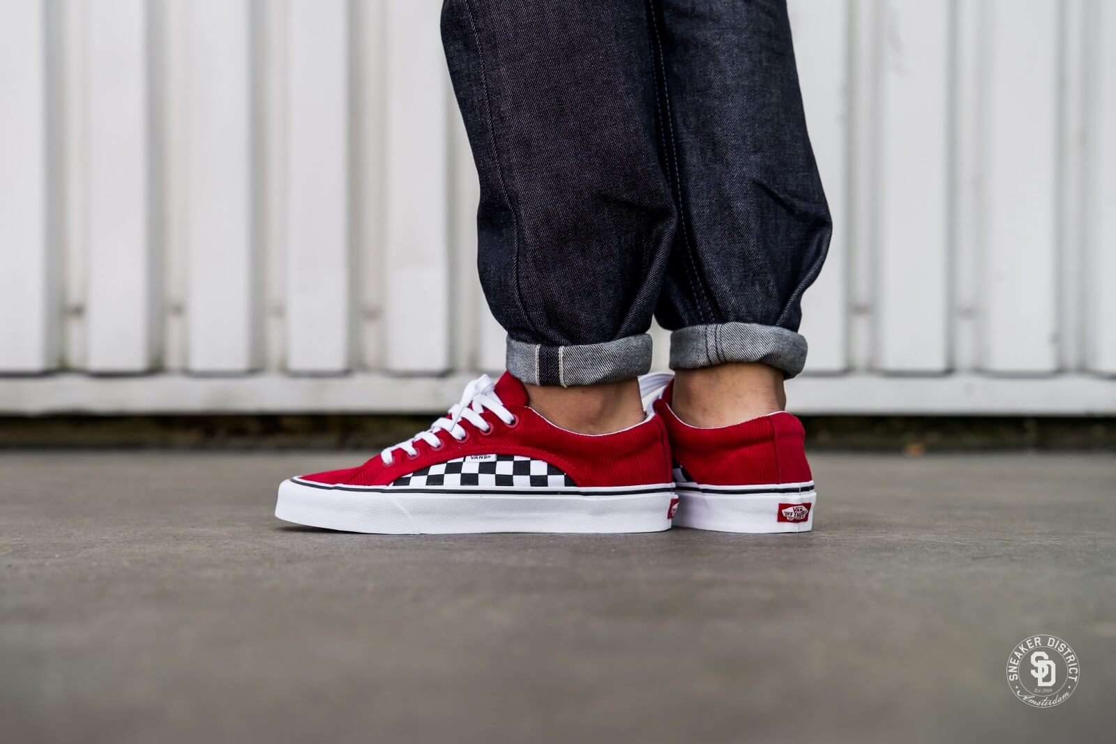Vans Lampin CheckerboardCorduroy Scooter Red VN0A38FIU9E