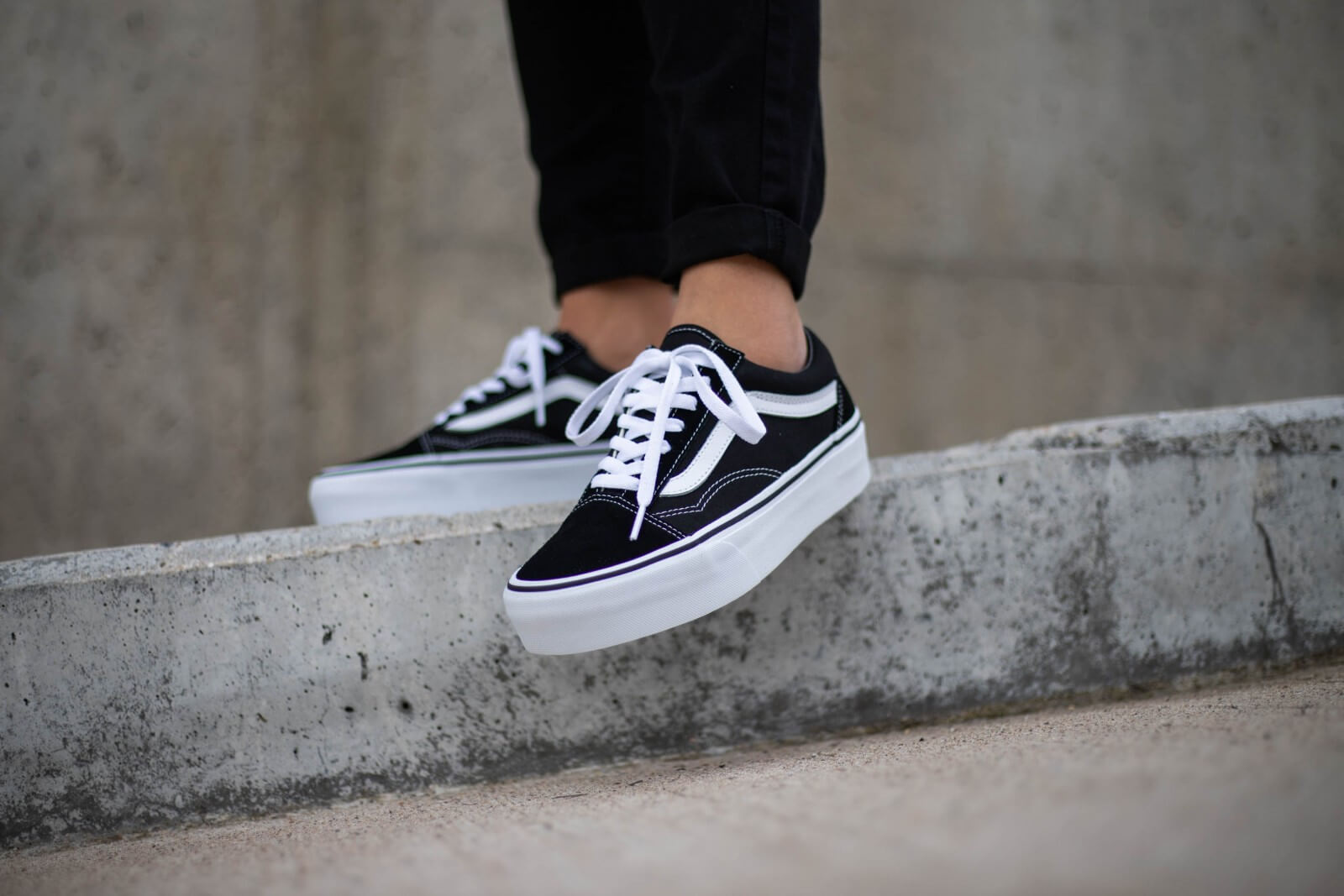 Vans Old Skool Platform Black White VNOA3B3UY28