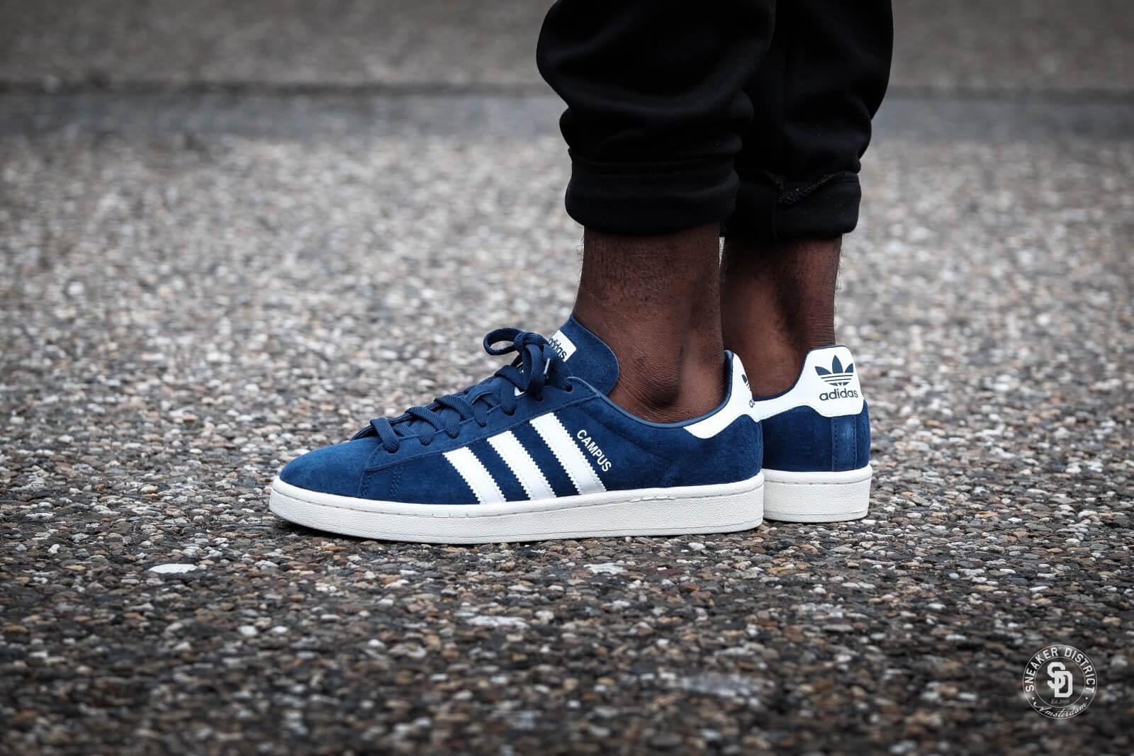 Adidas Campus Dark BlueFootwear WhiteChalk White BZ0086