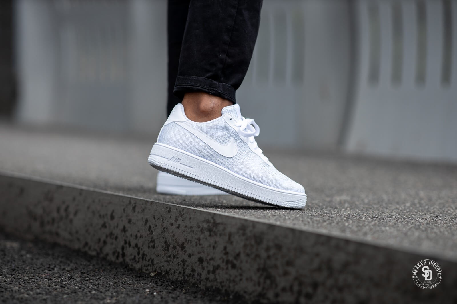 Nike Air Force 1 Flyknit 2.0 WhitePure Platinum AV3042 100