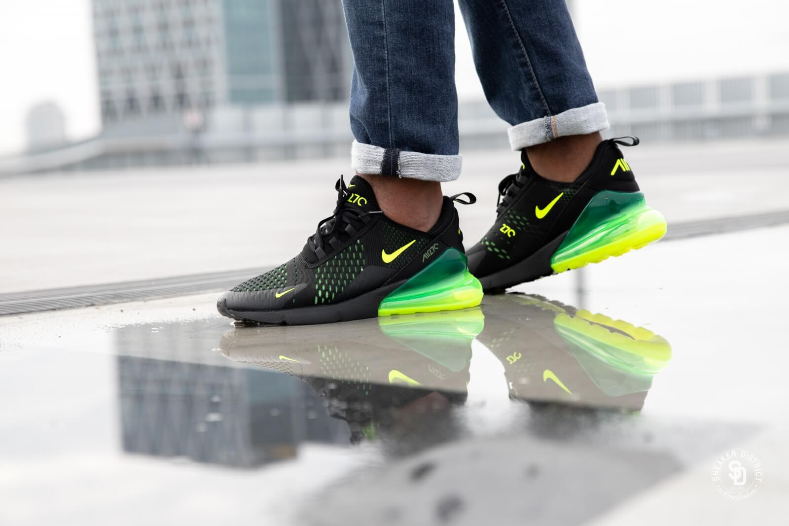 Nike Air Max 270 Black Volt Oil Grey
