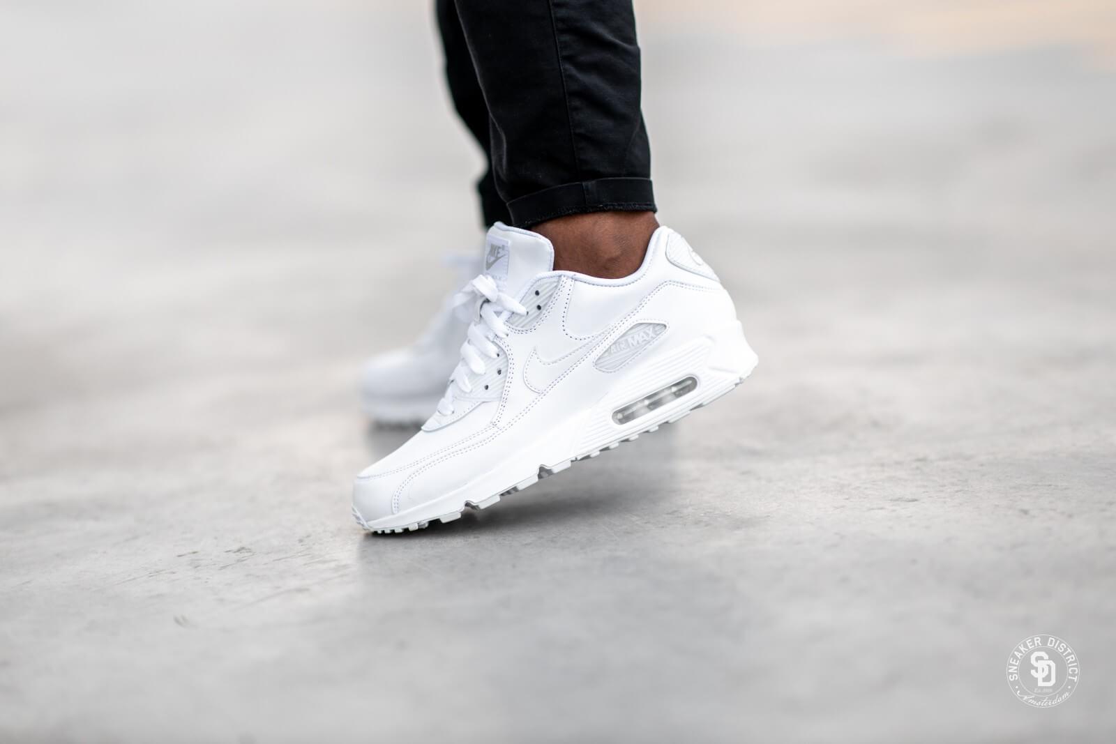 Nike Air Max 90 Leather White White 302519 113