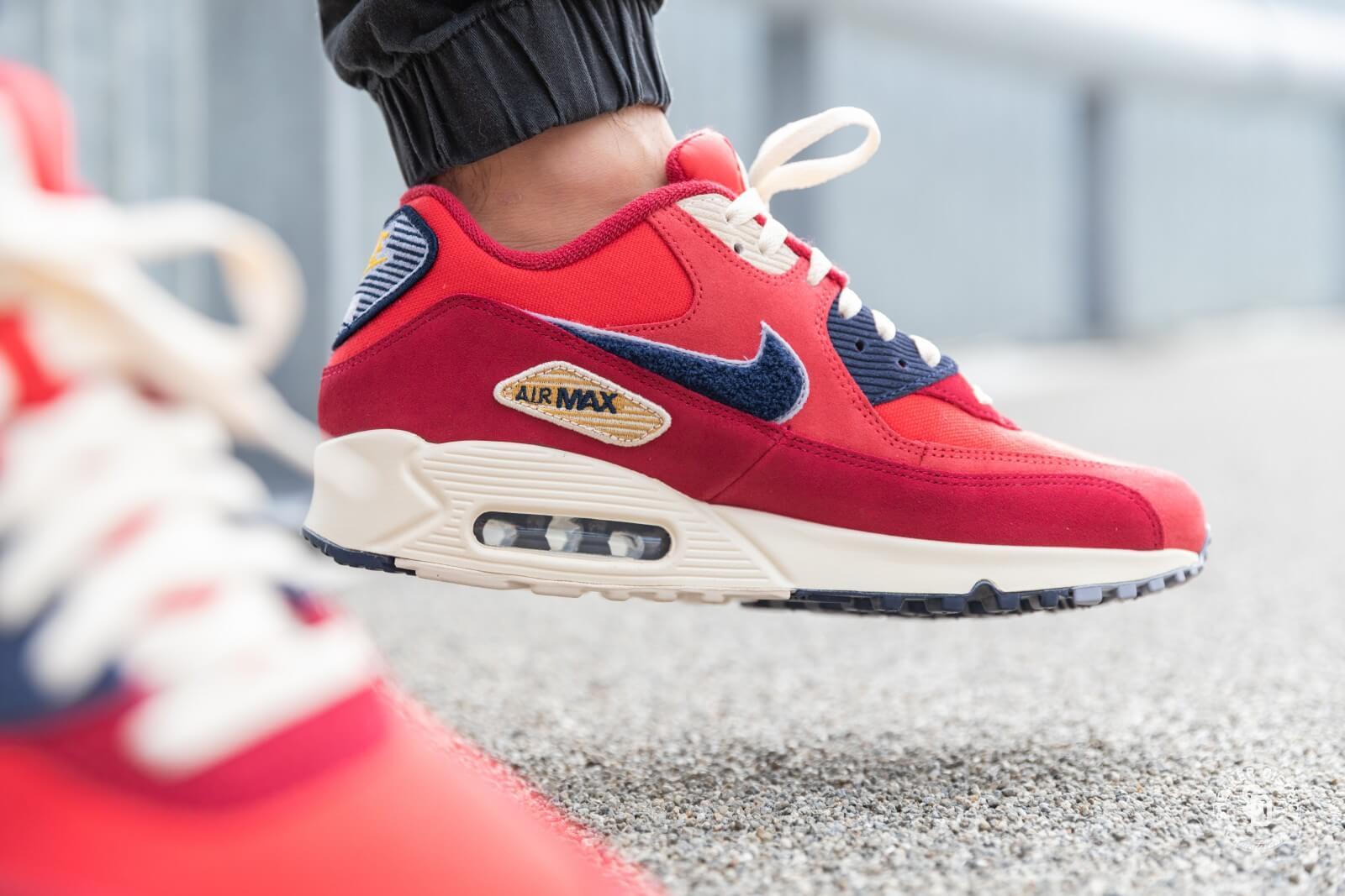 Nike Air Max 90 Essential RotWeiß Schuhe 537384 610