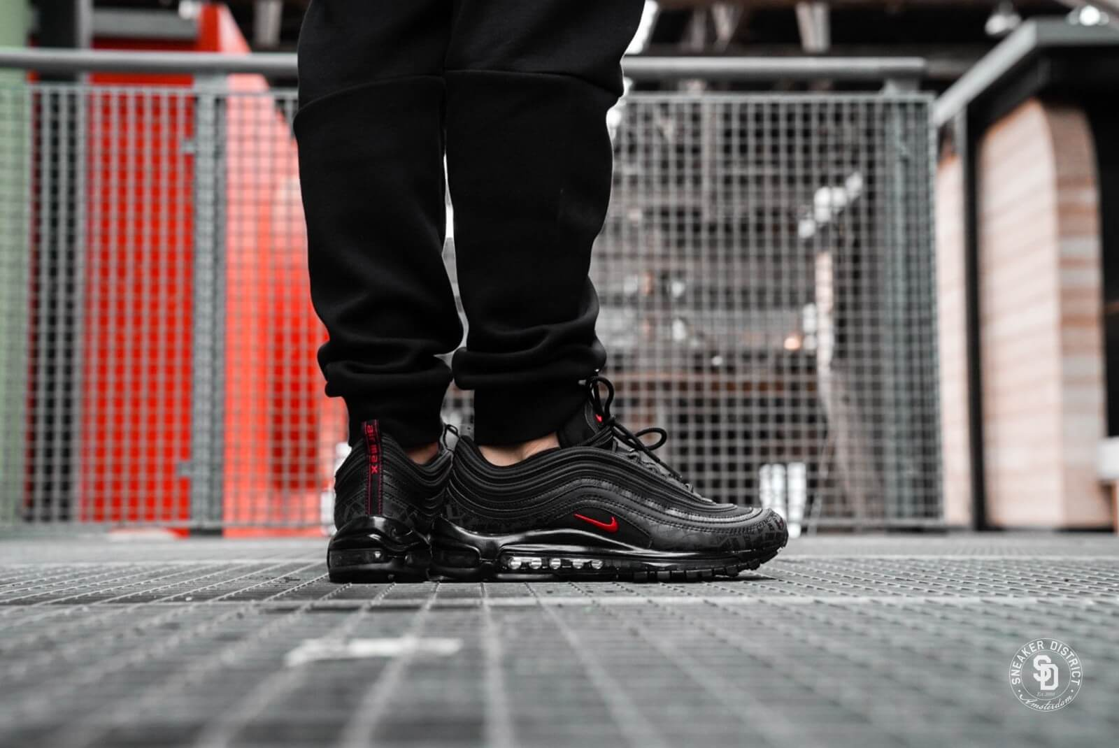 authentic nike air max 97 black red 7701a 2d787