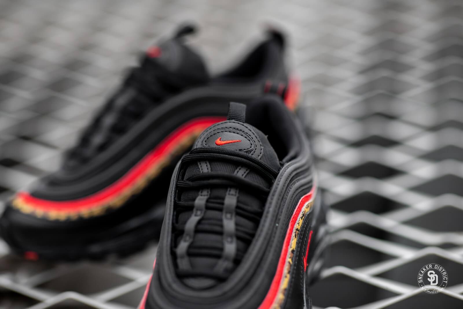 Nike Womens Air Max 97 BlackUniversity Red Print BV6113 001