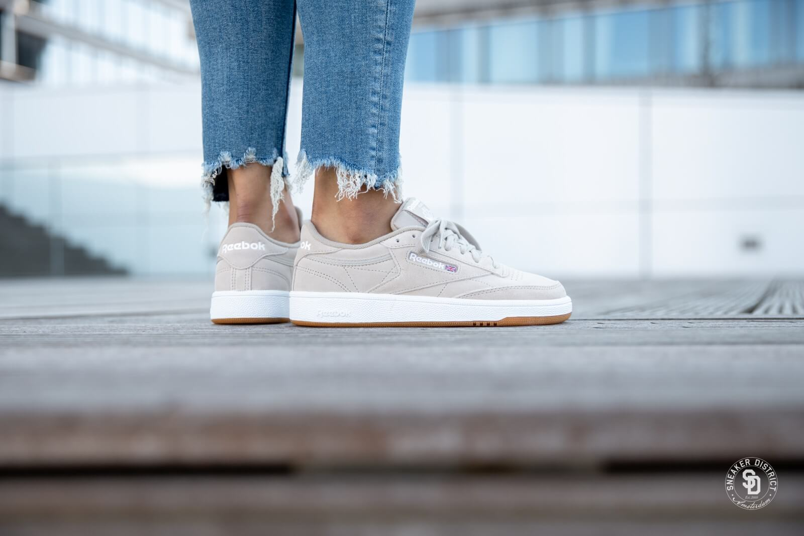 Reebok Classic Club C 85 Sneakers In White And Gum