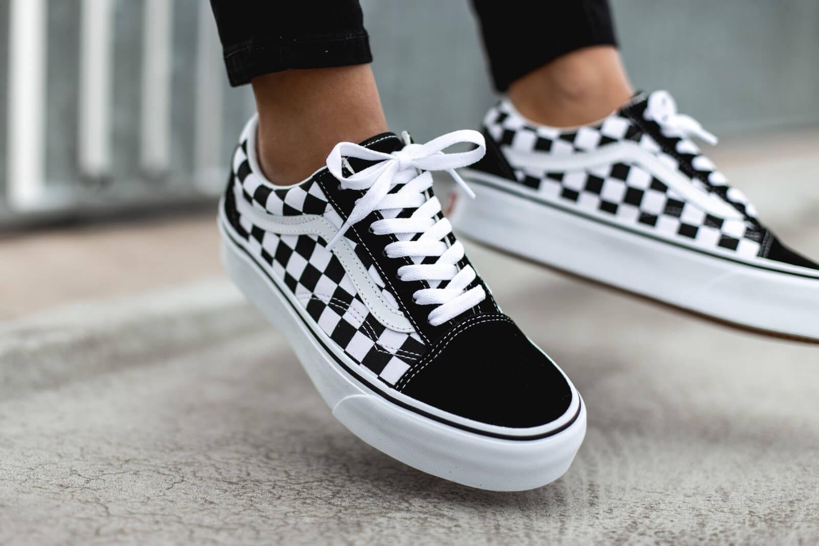 Vans Old Skool Checkerboard White
